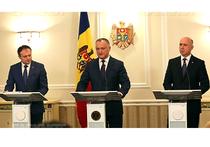 Президент Игорь Додон провел первую встречу с руководством парламента и правительства