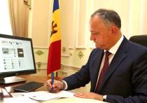 У президента Молдовы Игоря Додона нет времени прохлаждаться